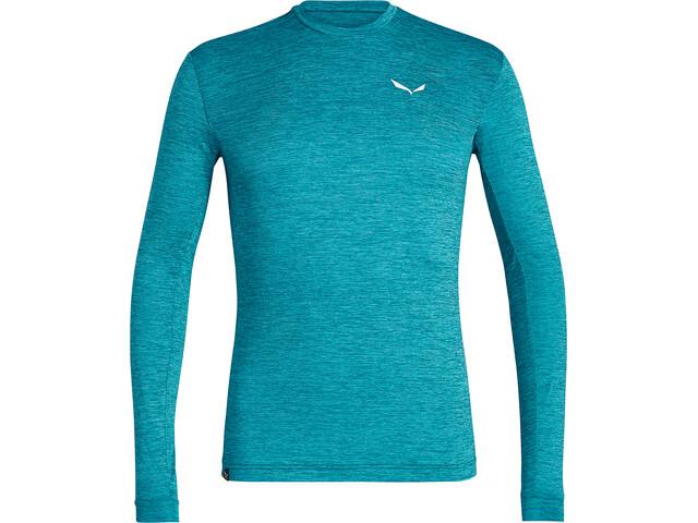 SALEWA Puez Melange Dry T-shirt à manches longues Homme, ocean melange